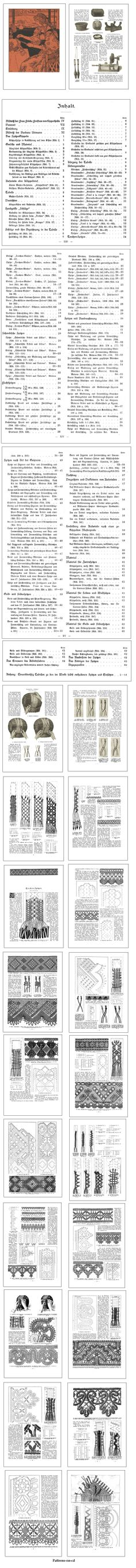 I want!                                                   CD ROM Title:  German Bobbin Lace Making, 1898.     This publication is in German language. Though this is not in English, the impressive illustrations and patterns make it a worthy addition to our selection of bobbin lacemaking related CD titles. Click on the image for more information