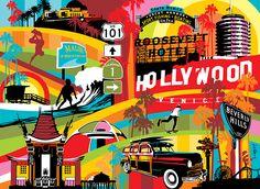 Los Angeles | Lobo | Pop Art #LA #popart www.lobopopart.com