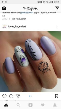 Manicure atipica - It's all about Style - Beautiful Nail Art, Gorgeous Nails, Cute Nails, Pretty Nails, Nail Art Hacks, Gel Nail Art, Spring Nail Art, Luxury Nails, Flower Nail Art