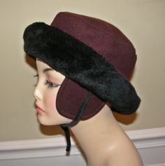 Girls or Ladies Wool Furry Upscale Trapper Hat by Nicholettes