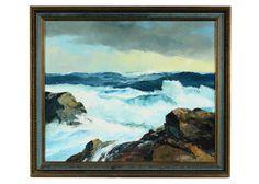 Dutch Artist Bernard Laarhoven Oil on Canvas Seascape