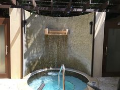 Remede Spa Review from St Regis Bahia Beach Resort, Puerto Rico  Cold Plunge Pool with waterfall