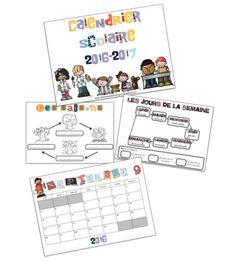 Calendrier scolaire 2016-2017 Document, Ms Gs, Classroom, Teaching, Math, School, Blog, Apps, School Calendar