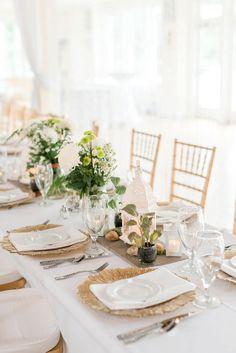 Fresh greenery wedding centerpieces | Audrey Rose Photography