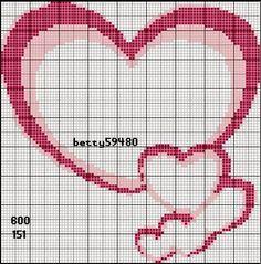Love the design Cross Stitch Heart, Cross Stitch Borders, Cross Stitching, Cross Stitch Embroidery, Embroidery Patterns, Wedding Cross Stitch Patterns, Graph Paper Art, Heart Patterns, Crochet