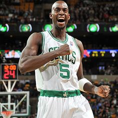 Kevin Garnett's habit of pumping himself up before every game carried throughout the season.