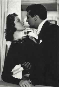 Katharine Hepburn and Cary Grant in Holiday, 1938.