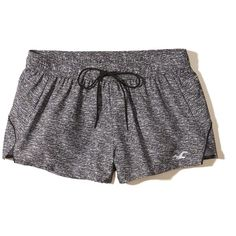 Hollister Nylon Running Shorts ($16) ❤ liked on Polyvore featuring activewear, activewear shorts and grey