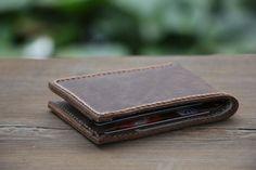 Groomsmen Geschenke Leder Geldbörse Herren von RockyLeatherDesign