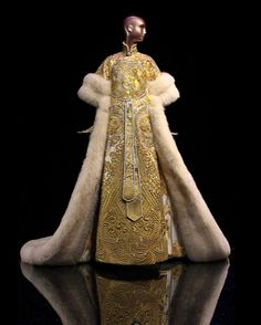 Guo Pei, dress from The Legend of the Dragon Fashion Show, 2012, front