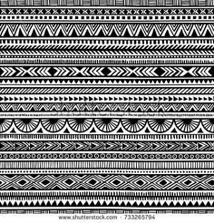 Find Seamless Ethnic Pattern Handmade Horizontal Stripes stock images in HD and millions of other royalty-free stock photos, illustrations and vectors in the Shutterstock collection. Doodle Art Drawing, Zentangle Drawings, Doodle Patterns, Zentangle Patterns, Mandala Pattern, Pattern Art, Tribal Pattern Tattoos, Dibujos Zentangle Art, Clock Tattoo Design
