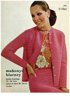 Ladies crochet suit vintage crochet pattern pdf by AplaceofInterest on Etsy https://www.etsy.com/listing/239745100/ladies-crochet-suit-vintage-crochet