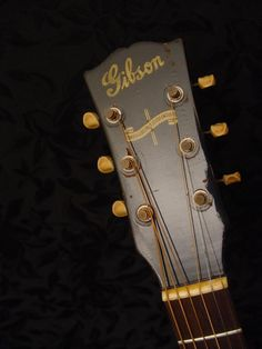 headstock of a Gibson Gibson Acoustic, Acoustic Guitar, Ozzy Osbourne, Vintage Guitars, Acoustic Guitars, Guitars