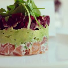 Healthy Food By Phyllis : Dinner - rode biet - gerookte zalm - avocado