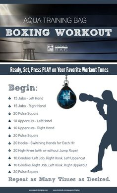 Boxing workout that combines strength training and cardio. Get a workout on your Aqua Punching Bags. Use this workout at home or add it to your Boxercise, Boxilates, Boxing for Fitness class. #Boxingworkout #cardioathome #strengthtraining #boxingcardioworkout