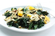Easy Lentil, Kale, and Fennel Skillet with Orange Raw Food Recipes, Fall Recipes, Diet Recipes, Vegan Life, Raw Vegan, Super Greens, Starchy Foods, Plant Based Eating, Collard Greens
