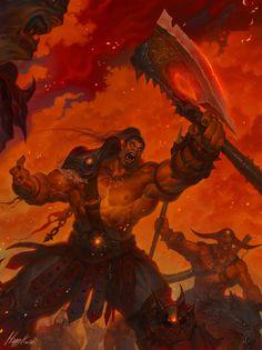 warlords of draenor : grom hellscream by happykwak
