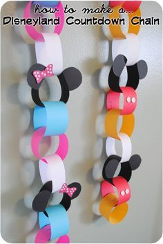 To colorful count downs for Disney Land or Disney World