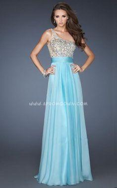 Asymmetrical One Strap Long Prom Dress by La Femme 18646 Aqua