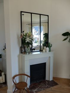 Before / After: Repainting a fireplace - Antique Fireplace Mantels, Antique Mantel, Selling Your House, Old Houses, Sweet Home, House Design, Furniture, Home Decor, Modern Fireplaces