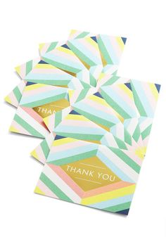 Have a Grateful Day Notecard Set by Chronicle Books - Multi, Pastel, Good