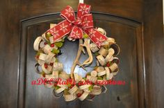 I found this Christmas Antler Wreath at Adoorable Cute Creations on Facebook