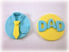 12 Fathers Day Cookies/Cupcakes Fondant Toppers, Dad Birthday Cupcakes Toppers, Fathers Day Gift Favors via Etsy