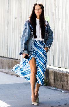 look-jaqueta-vintage-saia-assimetrica-street-style
