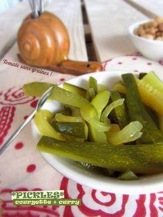 Tomate sans graines - Cuisine bio et green attitude !: Pickles de courgette au vinaigre et au curry