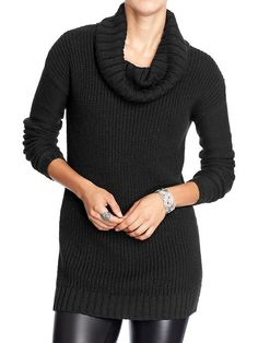 Women's Chunky-Knit Turtleneck Sweaters Product Image