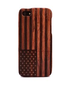 Flag Engraved Rosewood iPhone5/5s Wood Case