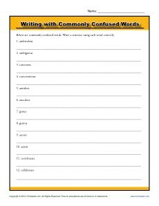 Commonly confused word pairs | Learn English | Pinterest | English ...
