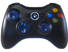 Standard Xbox360 Controller Clear Blue Out