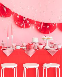 Red and White Candy Stripe Party | Oh Happy Day!