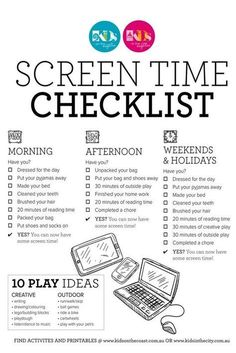 Are you looking to set some screen time rules in your household? Finding screen battles are sucking up your energy and time? Never fear, our screen time checklist printable is here! This handy screen time printable will help you enforce some screen time rules for before and after school and on weekends and holidays - all in a handy chart and checklist style printable that can be printed, laminated and pinned on your fridge or noticeboard! #screentimechart #screentimerules #screentimeprintable