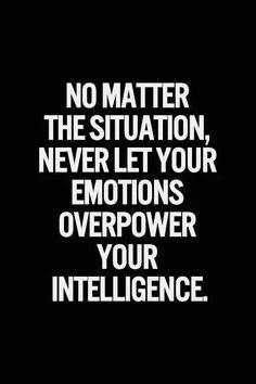 Emotions vs Intelligence