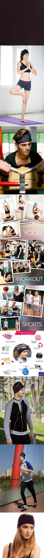 Multi Style Customizable Headband / Sweatband for Sports, Workout, Yoga and Fashion. Ultimate Performance & Style