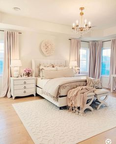 Master Bedroom Decor a Cozy bedroom Romantic master bedroom with white tufted bed linen duvet soft curtains master bedroom makeover white tufted bed white and gold lamps white with brass nightstand room decor master bedroom decor ideas luxury bed Romantic Master Bedroom, Master Bedroom Makeover, Cozy Bedroom, Modern Bedroom, Master Suite, Contemporary Bedroom, Master Bedroom Decorating Ideas, Feminine Bedroom, Bedroom Desk