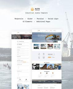 Joomla Theme , ALFA Industries - Industrial