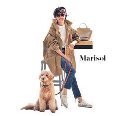 愛犬を連れてのご近所カフェにはビッグシルエットなデニムコーデで【2018/2/4コーデ】