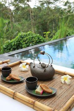 Complimentary afternoon tea. Villa Shamballa Luxury Treehouse - Bali