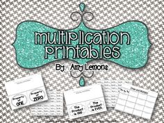 Step into 2nd Grade with Mrs. Lemons: Multiplication, Prepositions, and Division!  Free Printables!