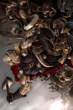 Thor: Ages Of Thunder - Reign Of Blood Cover: Thor Marvel Comics Poster - 30 x 46 cm Comic Book Characters, Marvel Characters, Comic Character, Comic Books Art, Comic Art, Book Art, Marvel Comics Art, Marvel Heroes, Thor Marvel