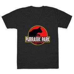 Purrassic Park V-neck Tee | Look Human