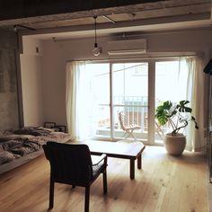 yさんの、照明,DIY,観葉植物,部屋全体,のお部屋写真