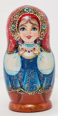 Matryoshka (Russian nesting doll) in a beautiful kokoshnik