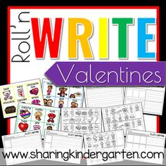 Valentine's day lesson and activities for kindergarten