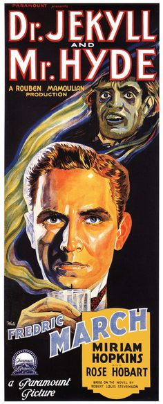 Best Film Posters : My favorite version of Dr. Jekyll and Mr. Hyde, with the great Frederic March - Dear Art Classic Monster Movies, Classic Horror Movies, Classic Monsters, Classic Films, Scary Movies, Old Movies, Vintage Movies, Plane Movies, Halloween Movies