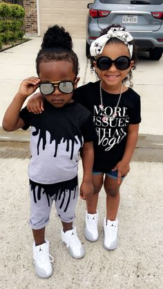 My kids are gonna get an attitude and style directly from me Cute Kids Fashion, Cute Outfits For Kids, Baby Girl Fashion, Cute Twins, Cute Baby Girl, Cute Babies, Kid Swag, Baby Swag, Beautiful Black Babies