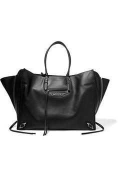 Balenciaga - Paper Za Textured-leather Tote - Black - one size